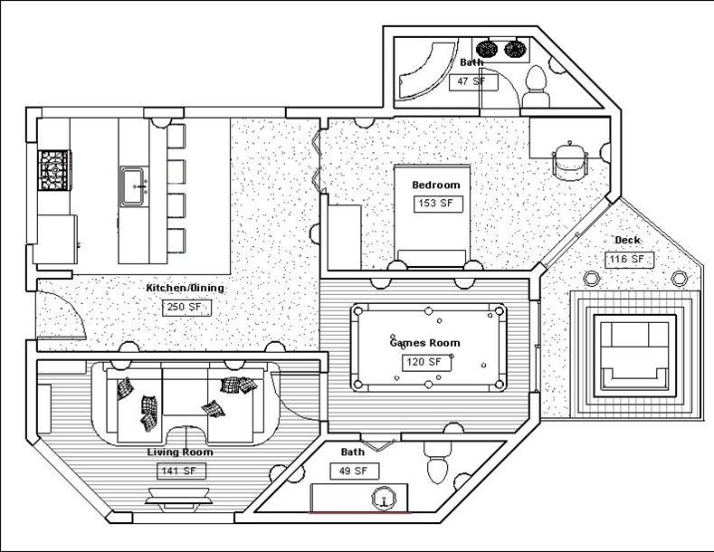 student floor plan - Revit