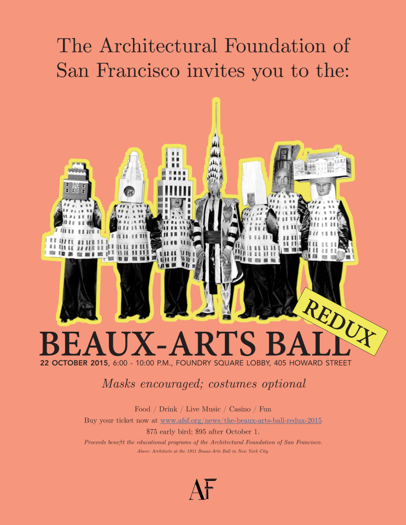 2015 Beaux Arts Ball invitation